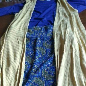 LuLaRoe, joy vest, Irma top and cassie skirt